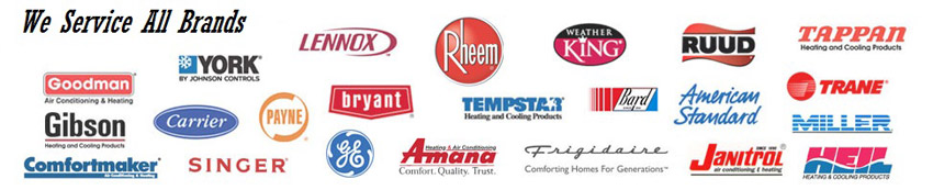 We Service All Air Conditioning and Heating Brands